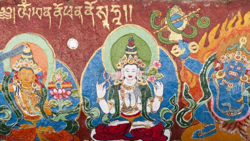 Thangka tibetano fotos de archivo