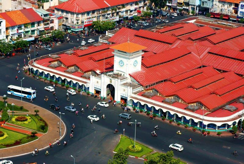 Thanh市场,胡志明,越南在天 免版税库存图片