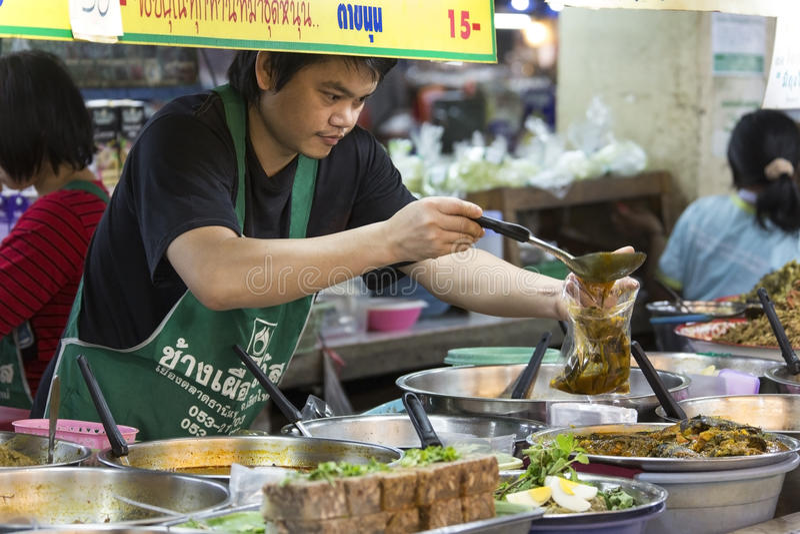 Thanin rynek Tajlandia - Chiang Mai - obrazy royalty free