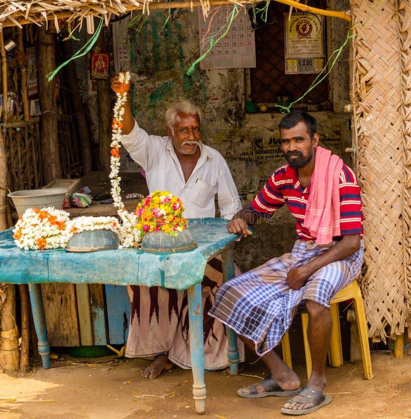 thanjavour,印度- 2月13 :一未认出的印地安人sitt