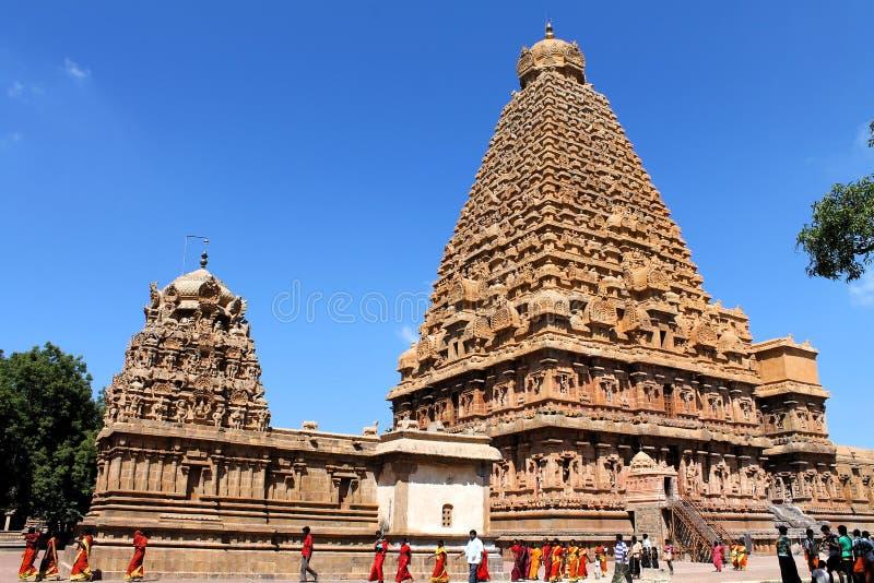 Thanjavur Brihadeeswarar寺庙 图库摄影