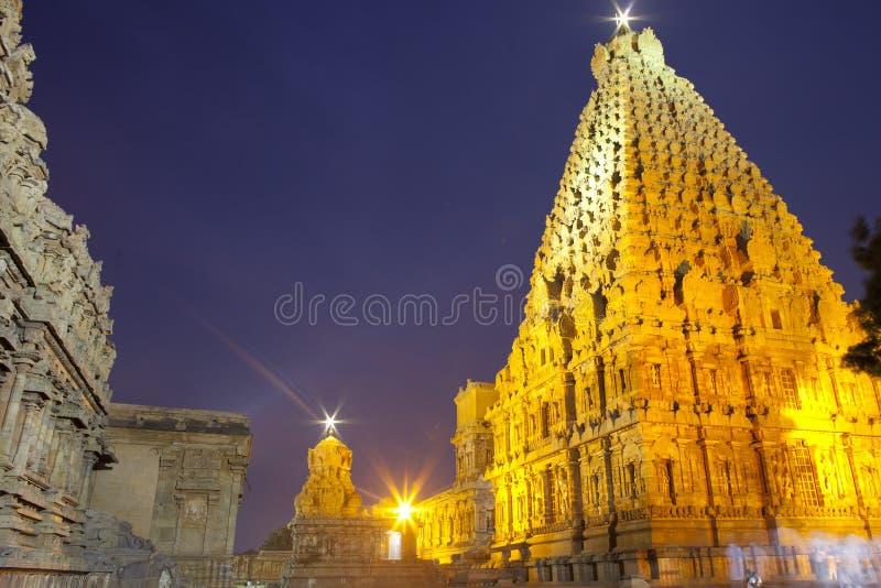 Thanjavur Brihadeeswarar tempel royaltyfri bild