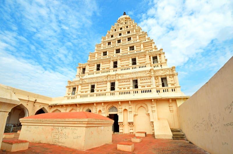 Thanjavur Maratha slott royaltyfria foton