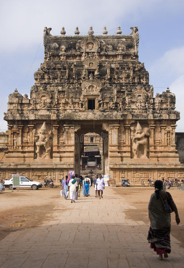 Thanjavur Tamil Nadu - en Inde image stock
