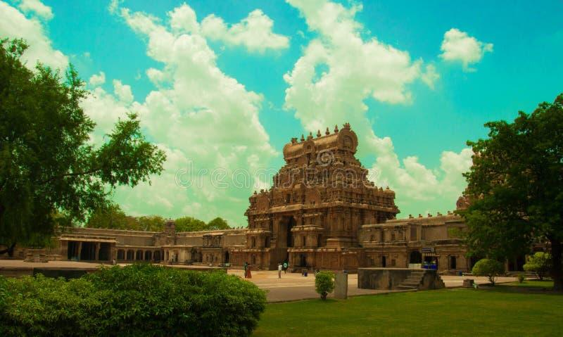 Thanjavur tempel arkivbild