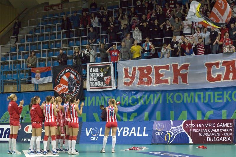 Thank for fans of Crvena Zvezda stock image
