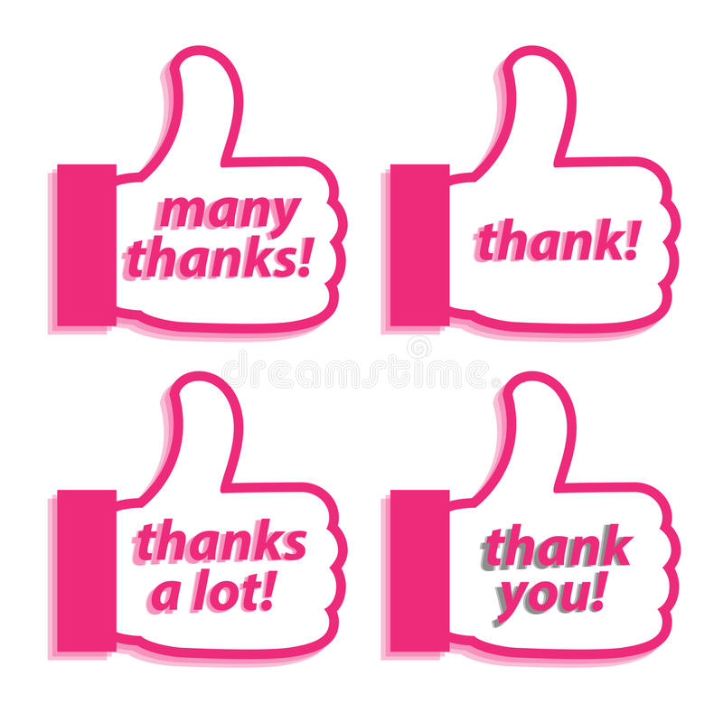 About Thank stock illustration