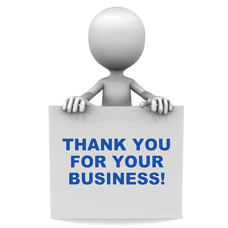 Thank ou for your business. Words thank you for your business on a banner, cocnept of customer appreciation vector illustration