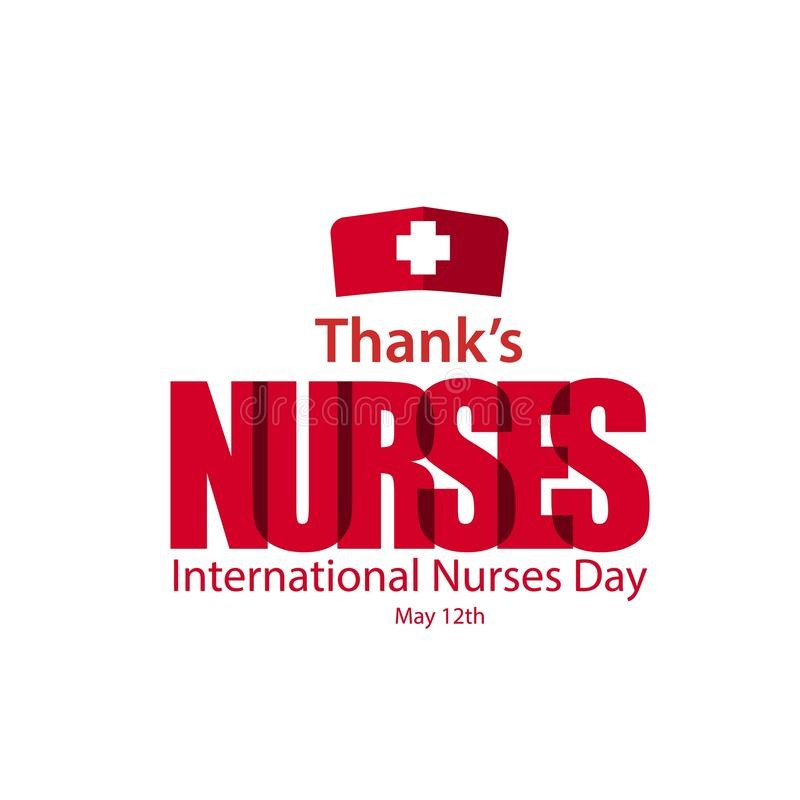Thanks Nurses International Nurses Day Vector Template Design Illustration stock illustration