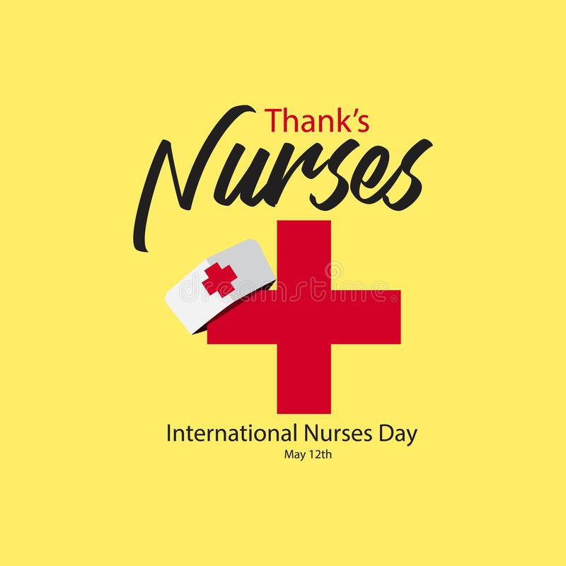 Thank's Nurses International Nurses Day Vector Template Design Illustration stock illustration