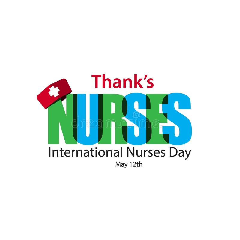 Thank's Nurses International Nurses Day Vector Template Design Illustration vector illustration