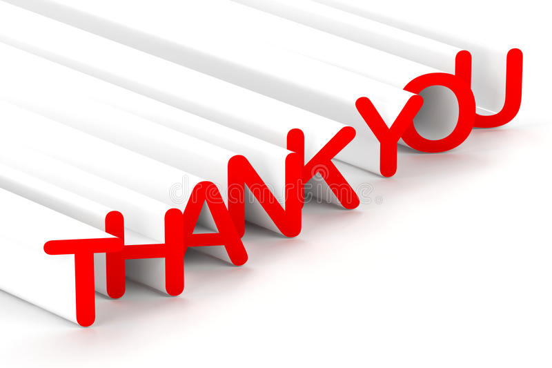 Thank You. 3d text with the words Thank You stock illustration