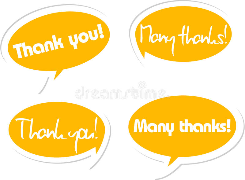 Download Thank you! stock illustration. Image of object, outline - 21563461