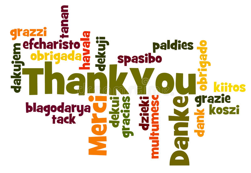 Thank You. Word Cloud in different languages