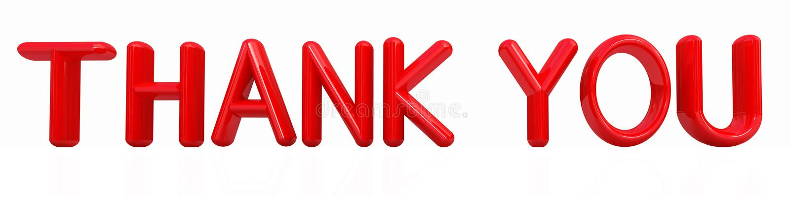 Download Thank you 3d red text stock illustration. Image of illustration - 23171260