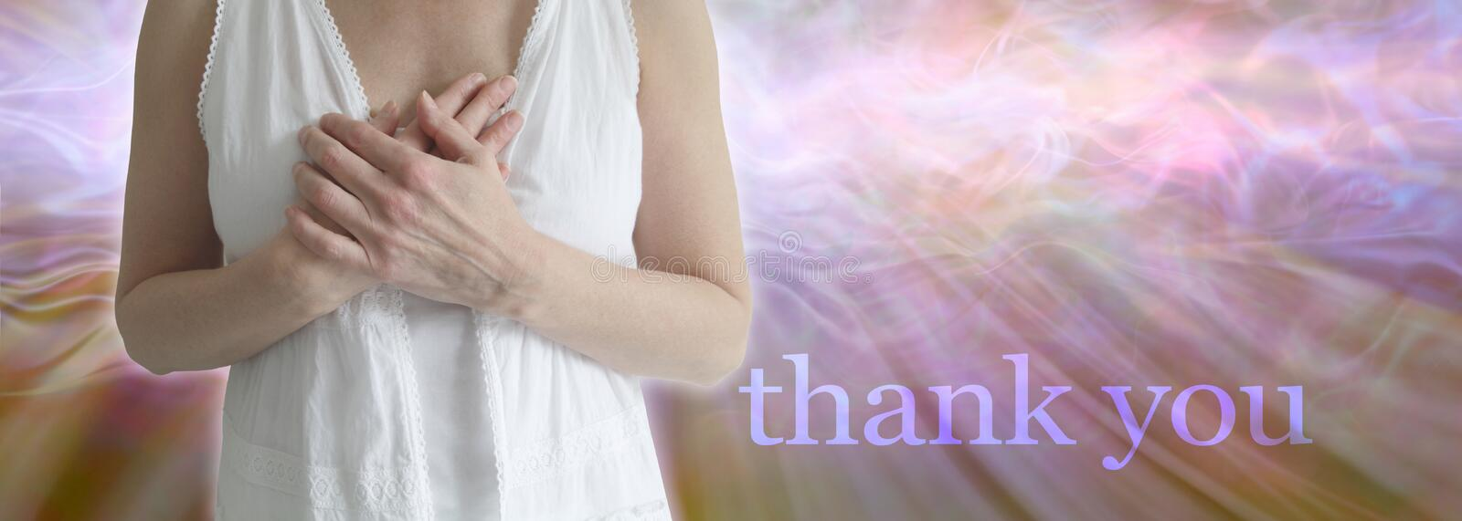 Thank you with all my heart royalty free stock images