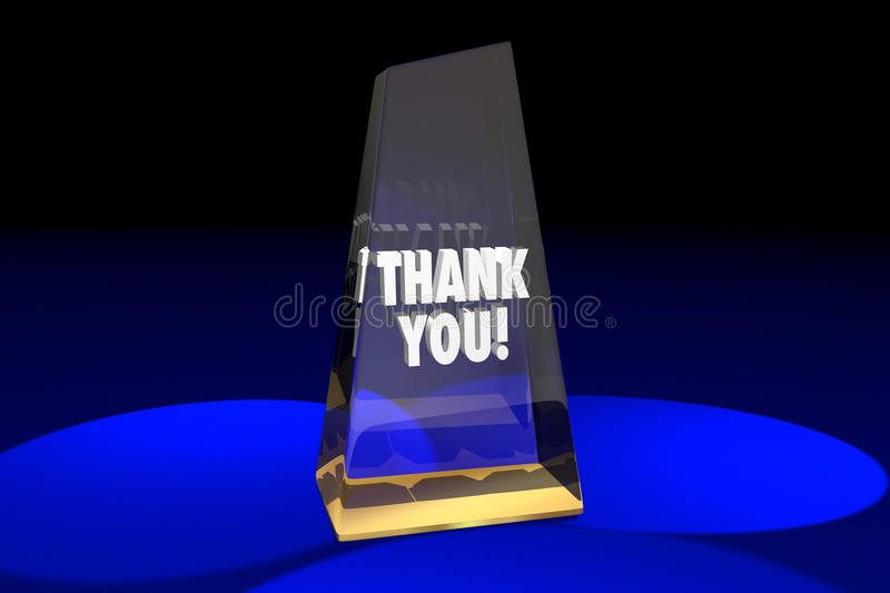 Thank You Appreciation Recognition Award Words 3d Illustration. Thank You Appreciation Recognition Award 3d Illustration Words vector illustration