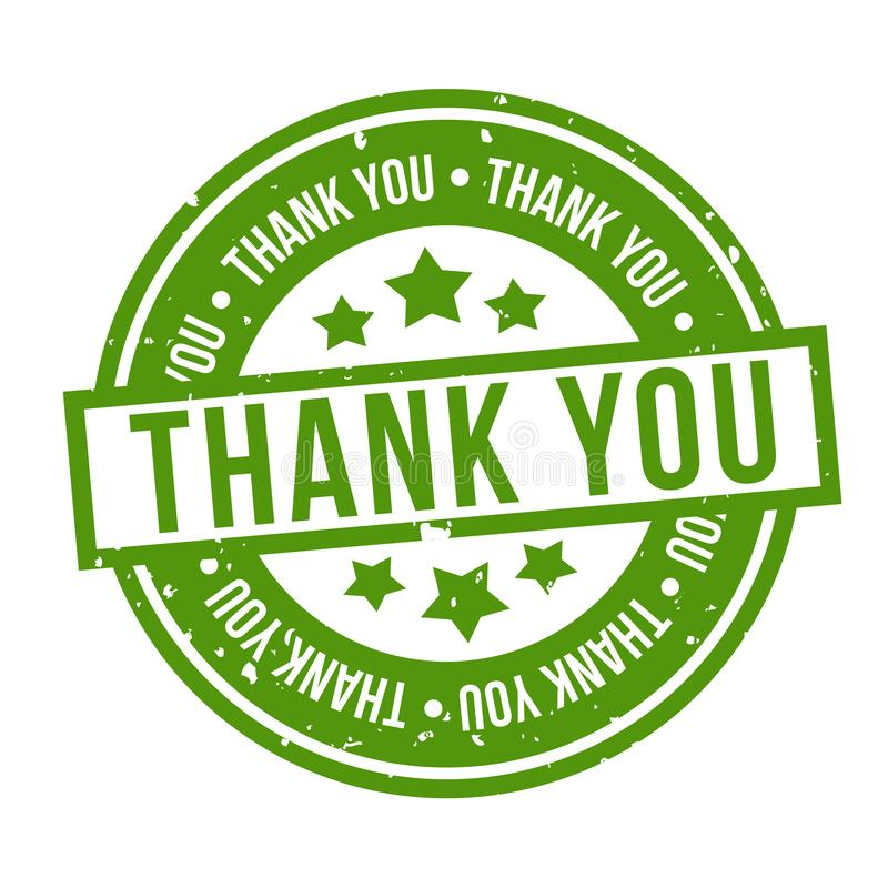 Thank You Badge. Eps10 Vector Stamp royalty free illustration