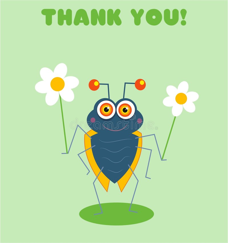 Download Thank you Bug stock vector. Illustration of present, cute - 89204