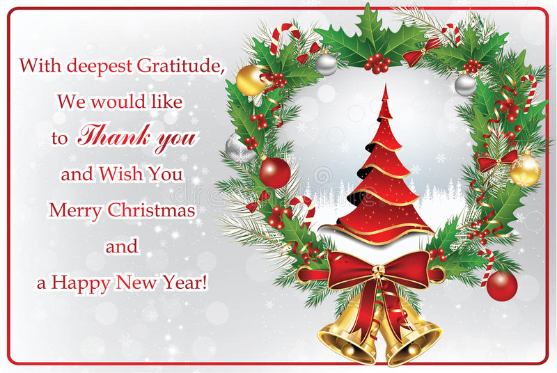 Christmas Quotes For Business And Clients: Thank You Business Greeting Card For New Year Stock