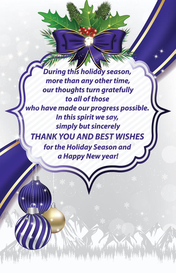 Thank you business winter holiday greeting card stock illustration download thank you business winter holiday greeting card stock illustration illustration of corporate size m4hsunfo Images