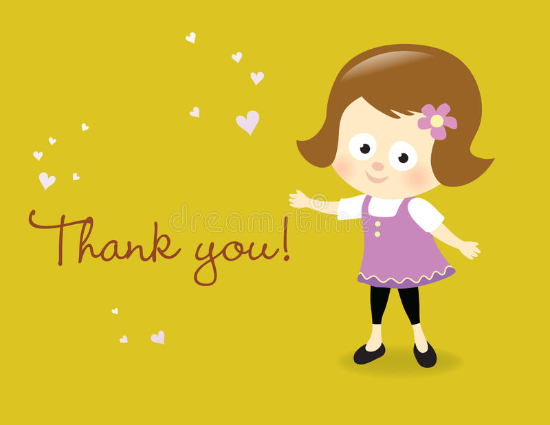 Download Thank you card stock vector. Illustration of female, flower - 24152049