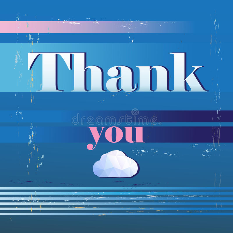Download Thank you card , with font stock vector. Image of diagram - 34633083