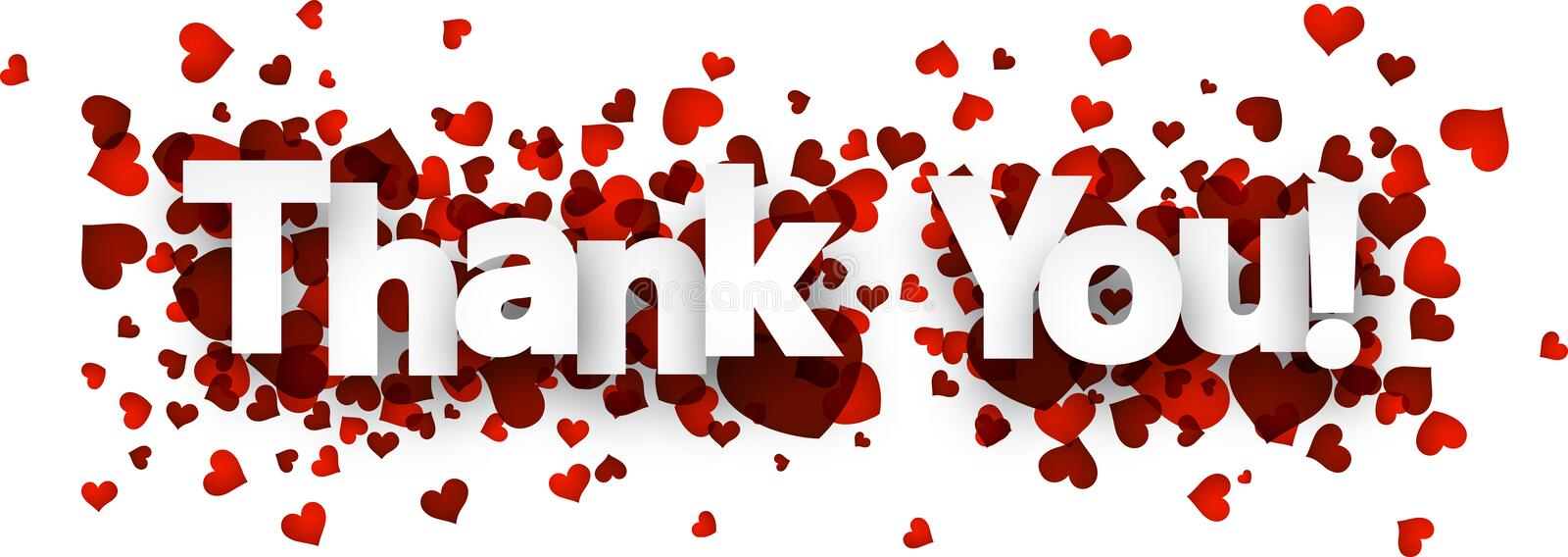 Thank you card vector illustration