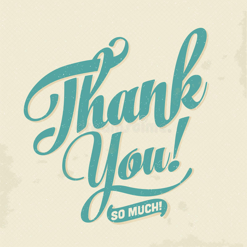 thank you card vector eps10 typographical background stock