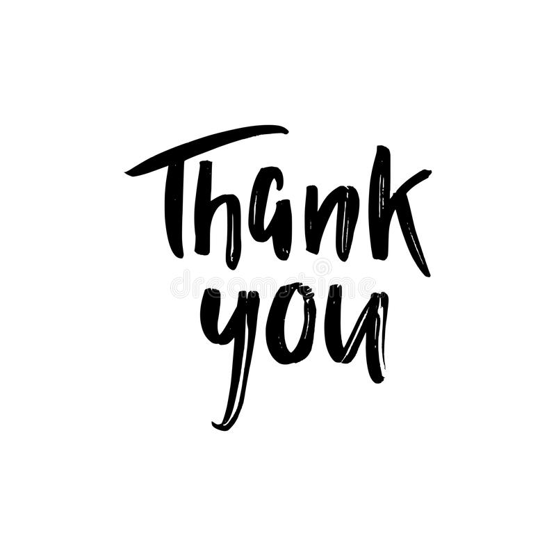 Thank you card stock illustration