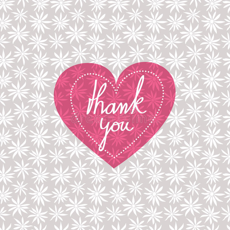 Thank you card royalty free illustration