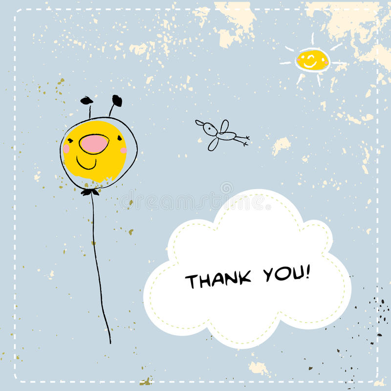 Thank you cards stock illustration