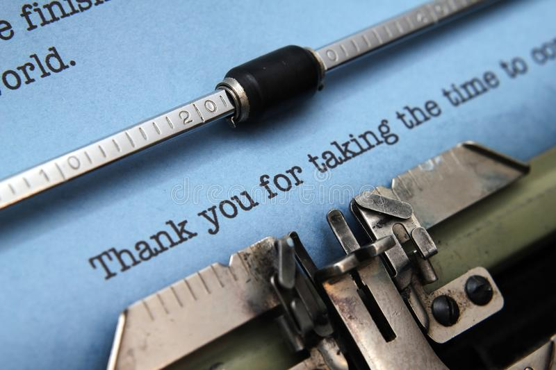 Download Thank you stock photo. Image of print, retro, typed, office - 31077950