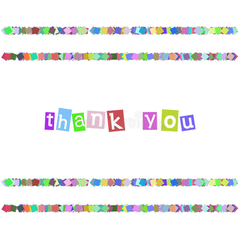 Thank You Color Card vector illustration