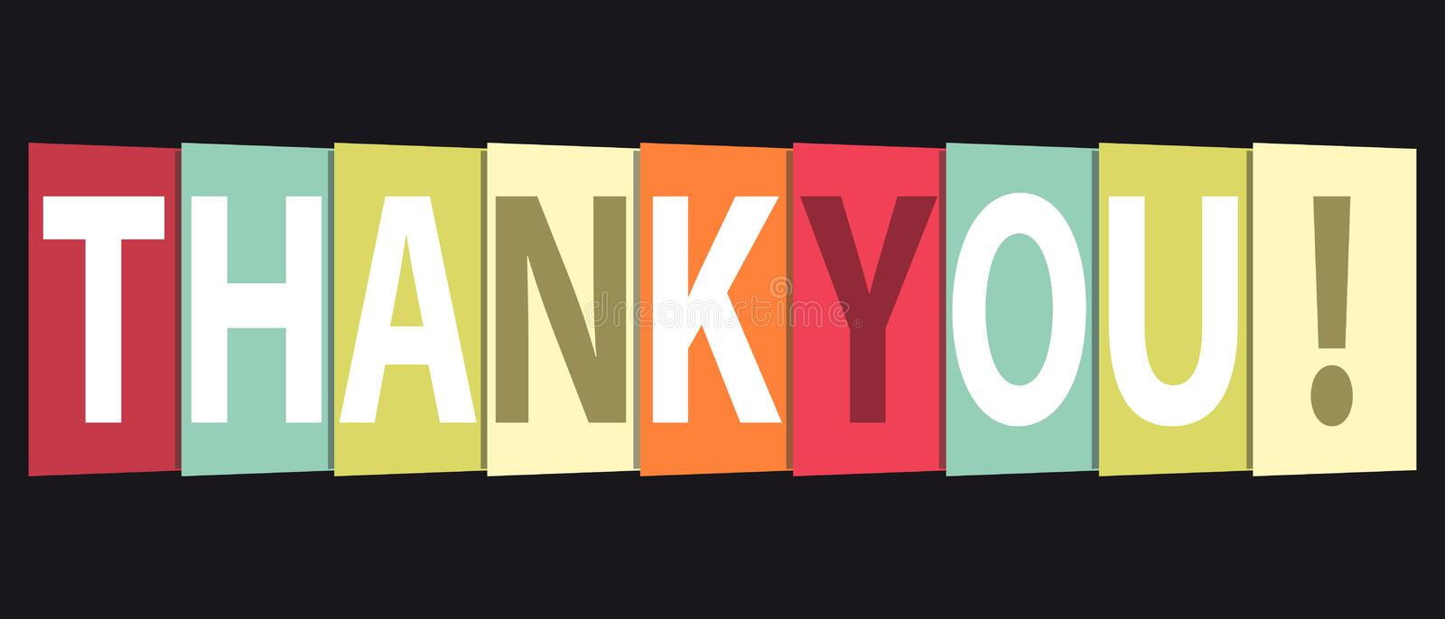 Thank You - Colorful Vector Background Or Card royalty free illustration