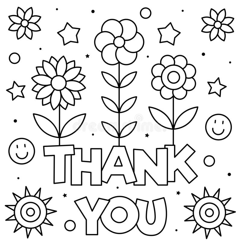 Thank You. Coloring Page. Vector Illustration. Stock ...