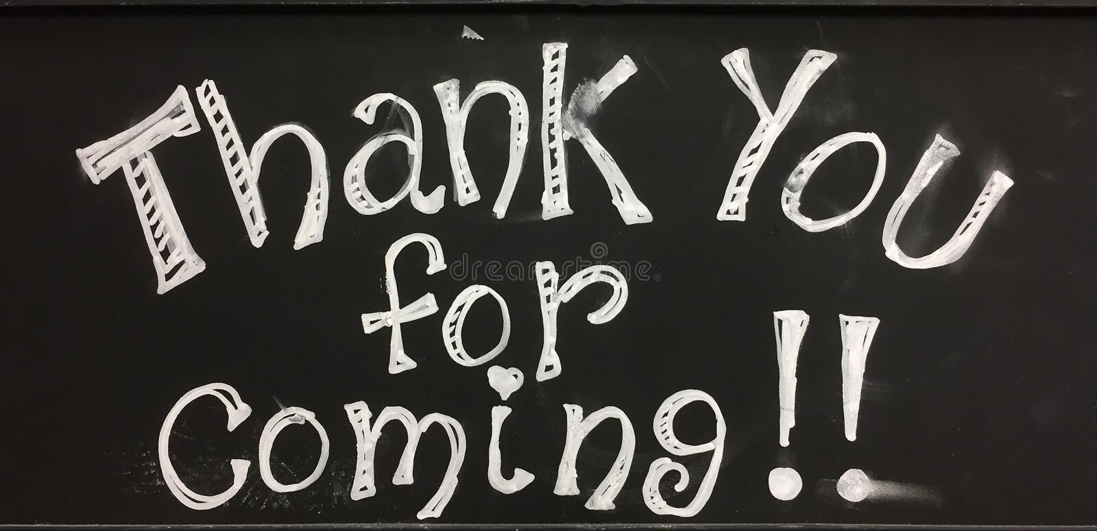Download Thank you for coming sign stock image. Image of symbol - 92495887