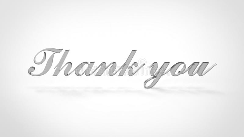Thank You 3D Letter Font Glass Stock Illustration