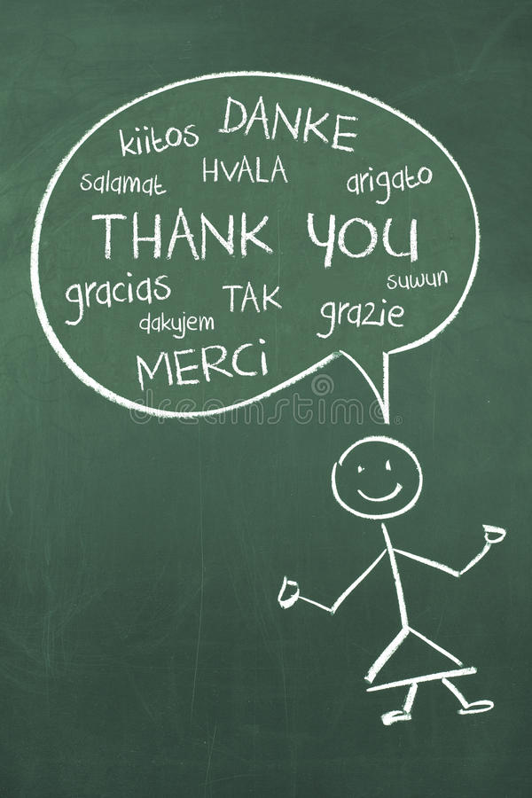 Thank you in different languages stock illustration for Green in different languages