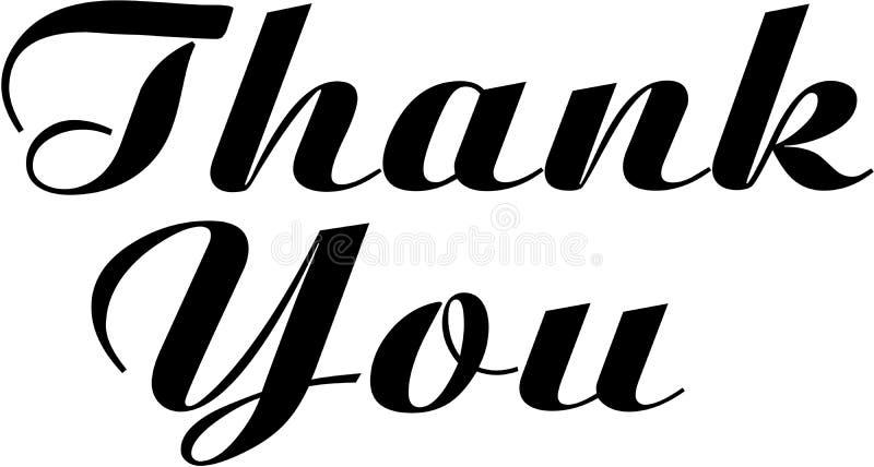 Thank You. Elegant Sign Script vector illustration