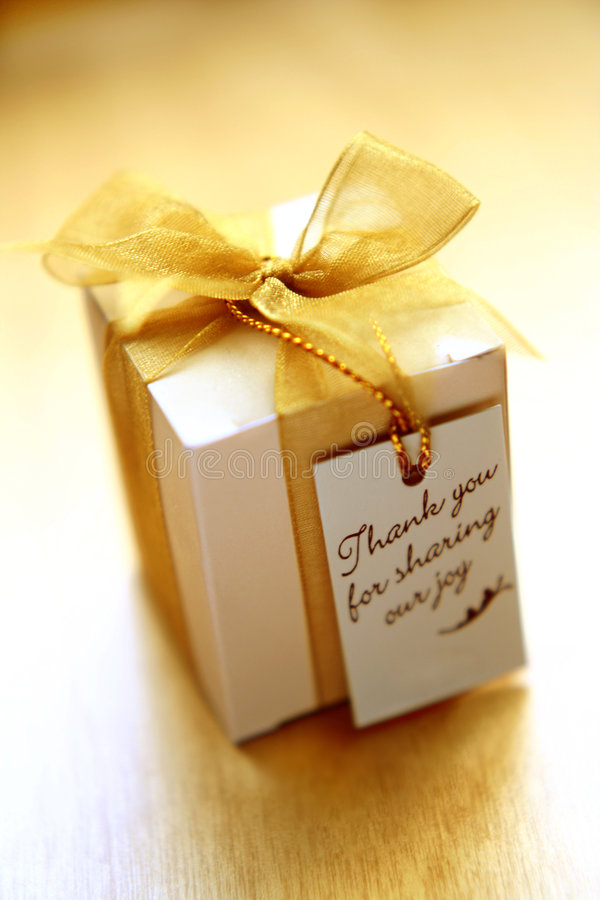 Thank you gift royalty free stock images