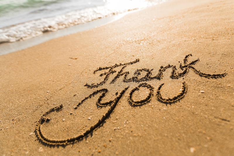Download Thank You stock photo. Image of gratitude, beach, announcement - 62805670