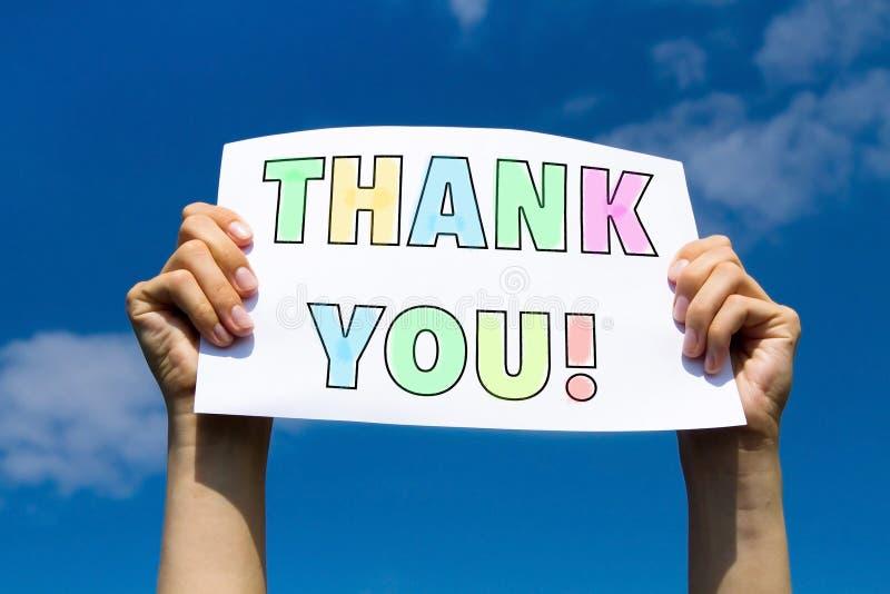 Thank you, gratitude concept stock image