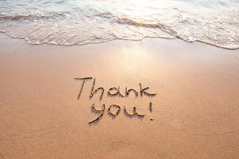 Thank you, gratitude concept royalty free stock photography