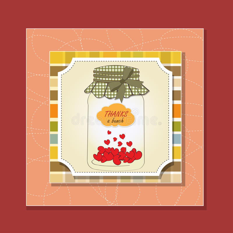 Download Thank you greeting card stock illustration. Image of colorful - 24729092