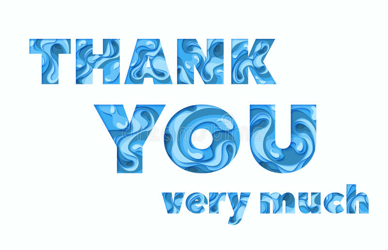 Thank you greeting card, vector illustration royalty free illustration