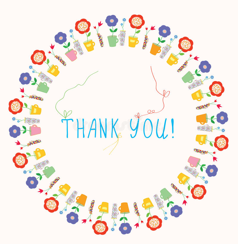 Thank you greeting card stock vector illustration of baby 36345433 thank you greeting card m4hsunfo