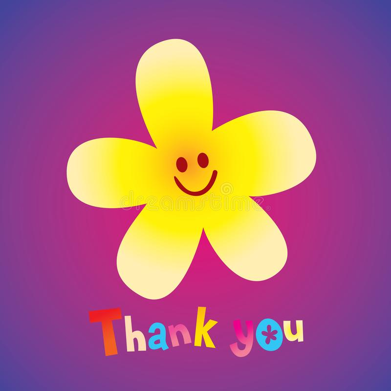 Thank you greeting card royalty free illustration