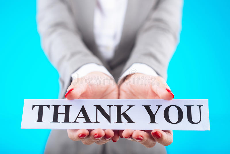 Download Thank you stock image. Image of gratitude, lady, concept - 52580689