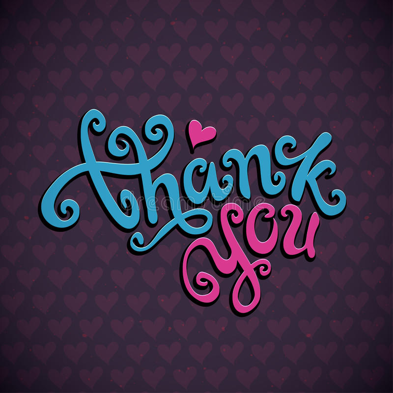 Download Thank You hand lettering stock vector. Image of message - 39869940
